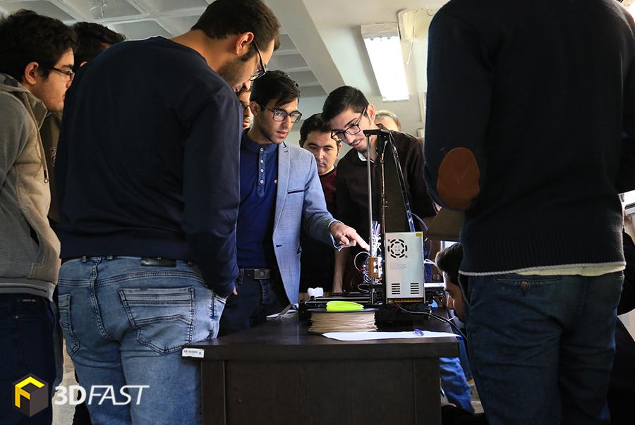 فضای تعاملی در یک روز با صنعت پرینت سه بعدی