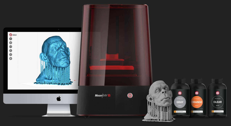پرینتر سه بعدی رزینی DLP - MoonRay S