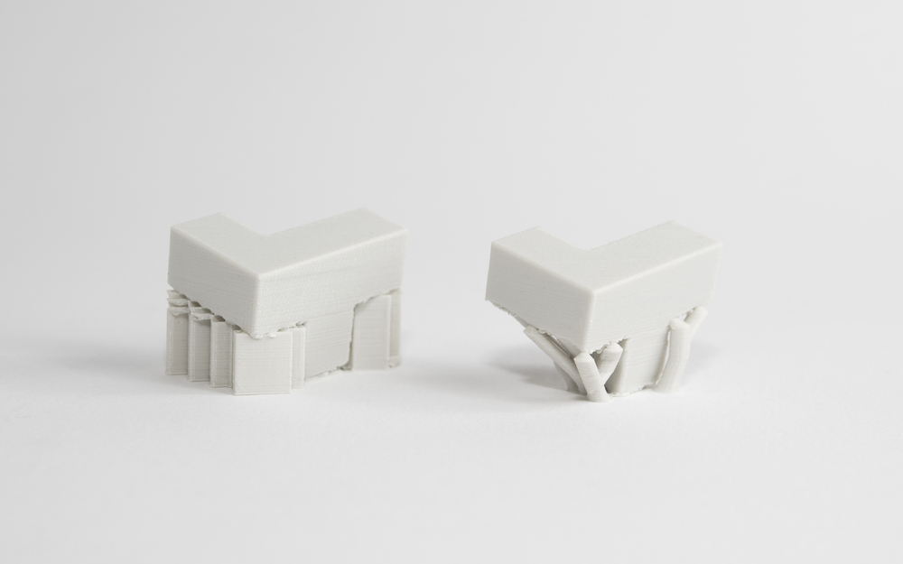 انواع سازه ساپورت پرینت سه بعدی FDM