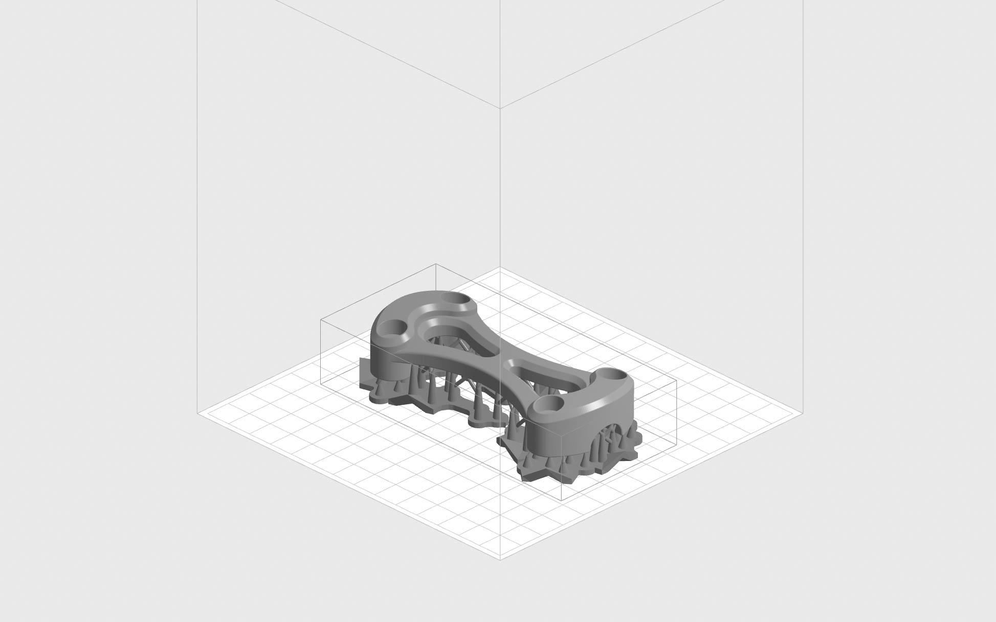 جهت گیری قطعه برای پرینت سه بعدی با یک پرینتر SLA بالا به پایین (Top-Down)