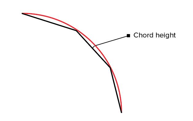 نمای تصویری از متغیر Chord Height