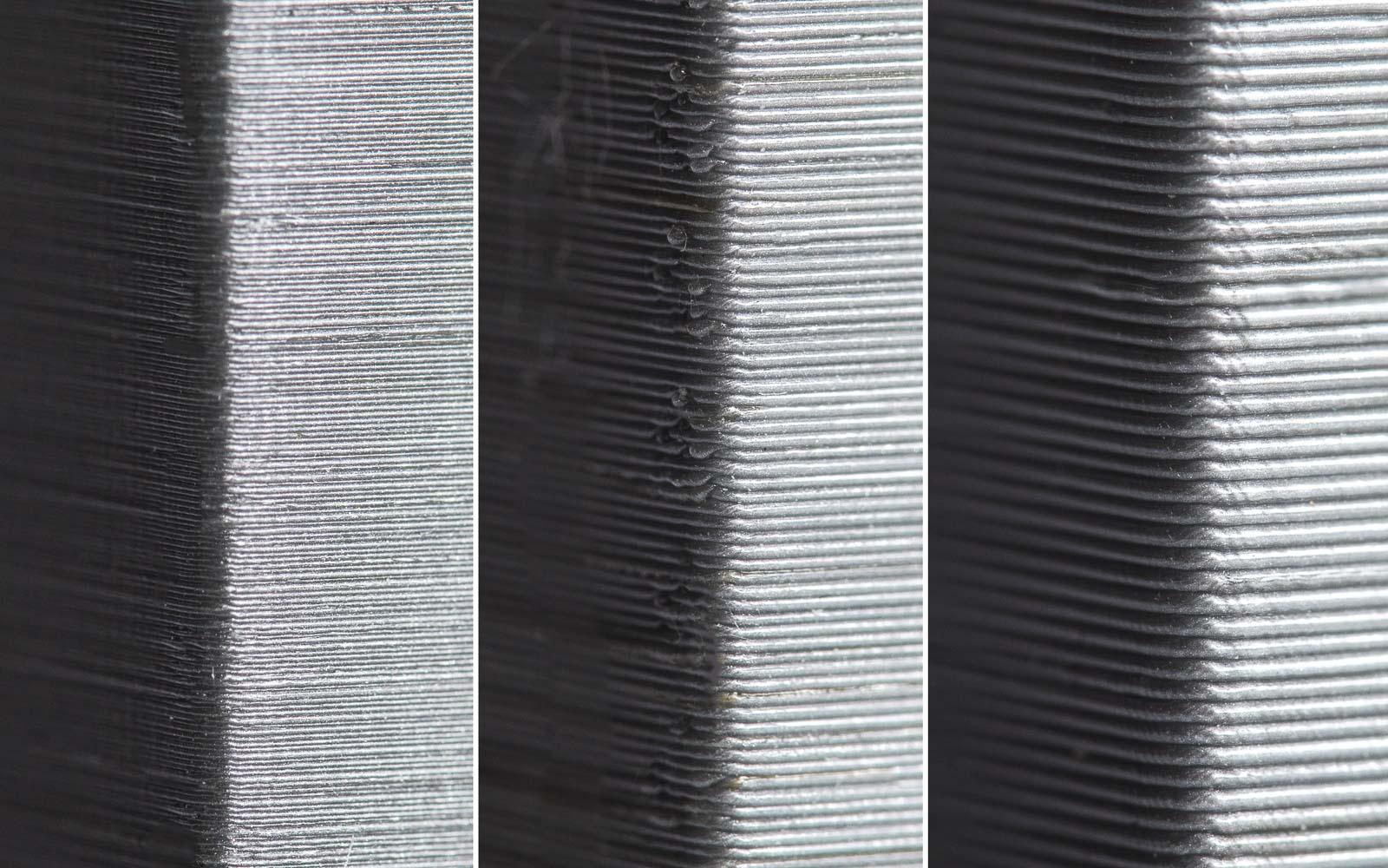 لایه های قطعاتی که با پرینتر سه بعدی ساخته می شوند از نزدیک قابل مشاهده هستند.