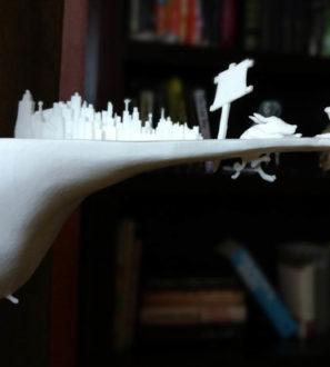 مجموعه اشعار : آنجا که پیاده رو پایان می یابد ، با چاشنی پرینت سه بعدی