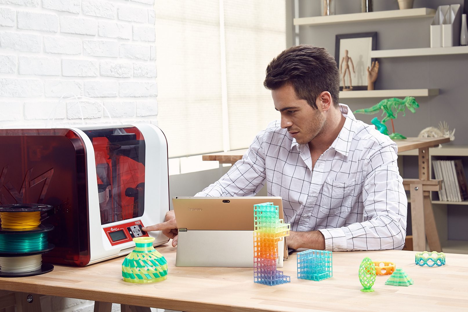 خرید چاپگر سه بعدی ارزان XYZprinting da Vinci Jr. Mix 2.0