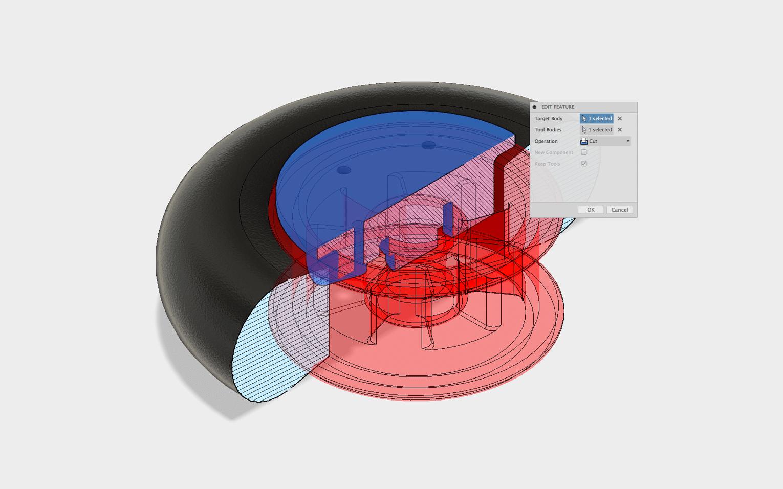 پروسه مدل سازی سه بعدی سالید با نرم افزار Fusion 360