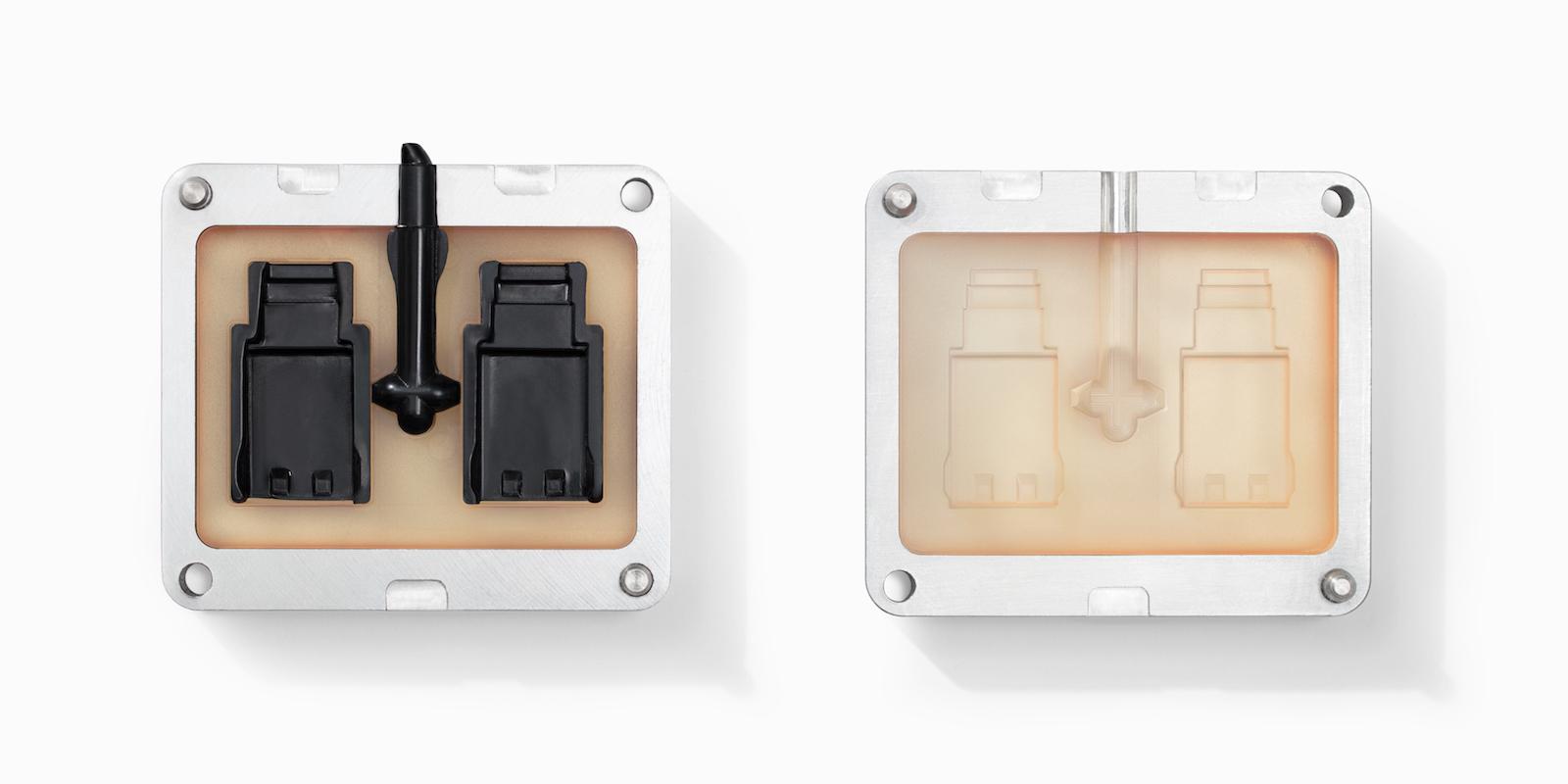 یک قالب پرینت سه بعدی تیراژ پایین SLA با رزین مقاوم در برابر حرارت. تصویر متعلق به formlabs