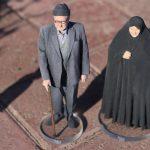 مجسمه دو نفره سه بعدی