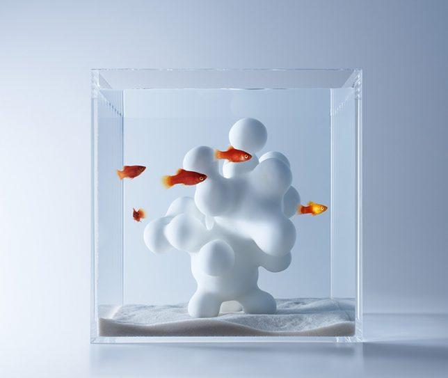 آکواریوم حبابدار حاصل از پرینت سه بعدی