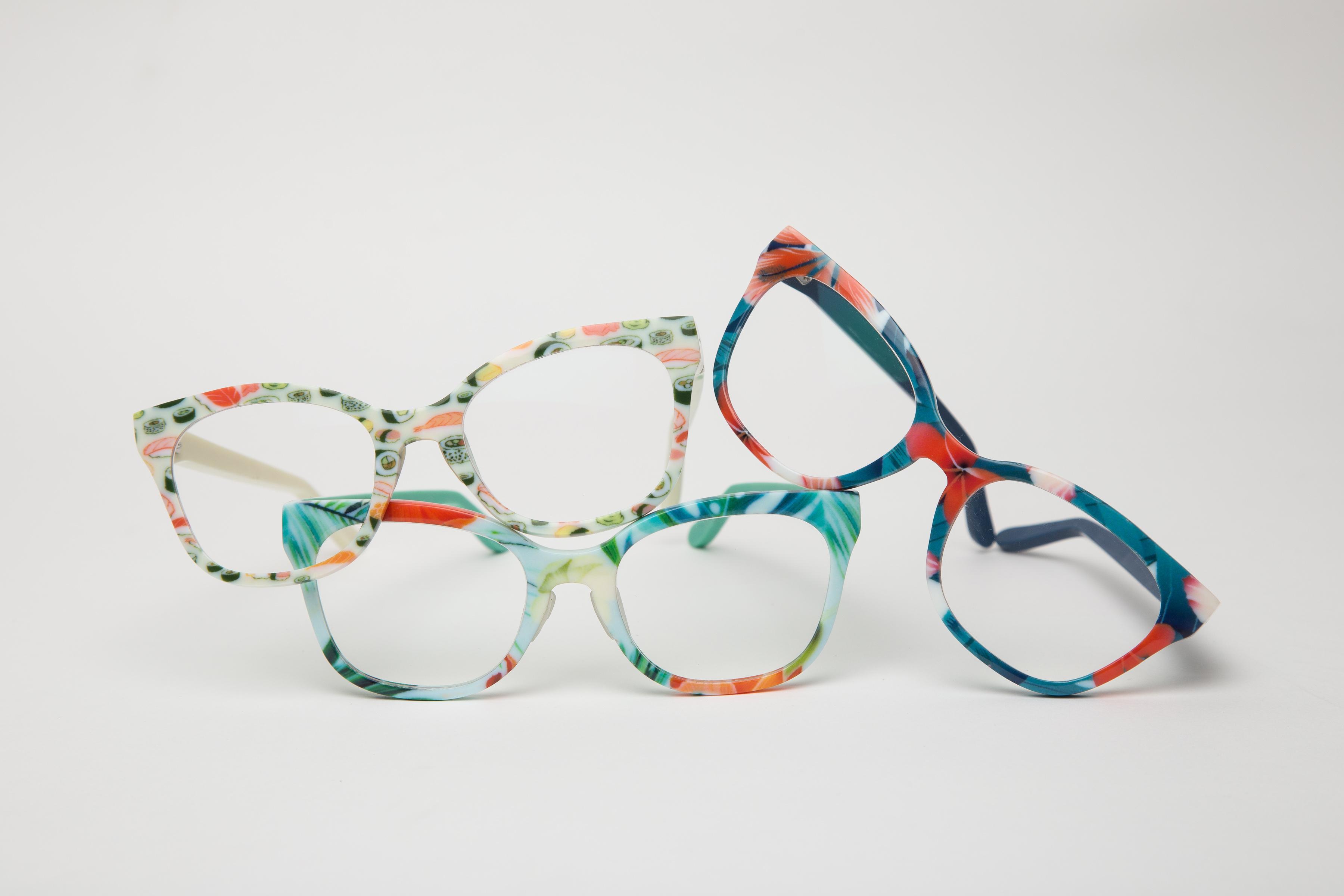 نمونه سلیقههای متفاوتی از پرینت سهبعدی عینک