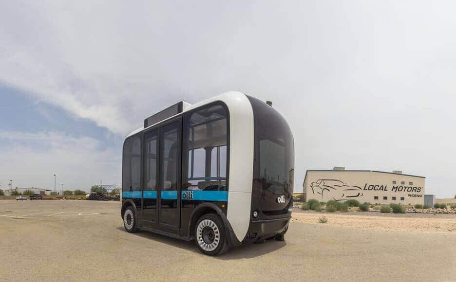 اتوبوس الکتریکی، بدون راننده و بسیار هوشمند حاصل از پرینت سهبعدی خودرو