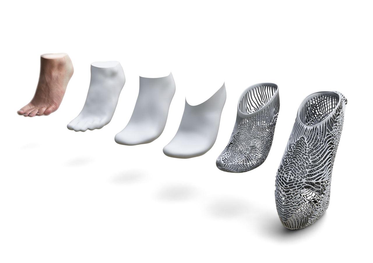 استفاده از برنامه برای ارائه فایل سه بعدی پا و تهیه کفش