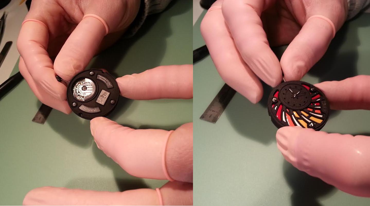 قطعات پرینت سه بعدی شده ساعت A.L.B