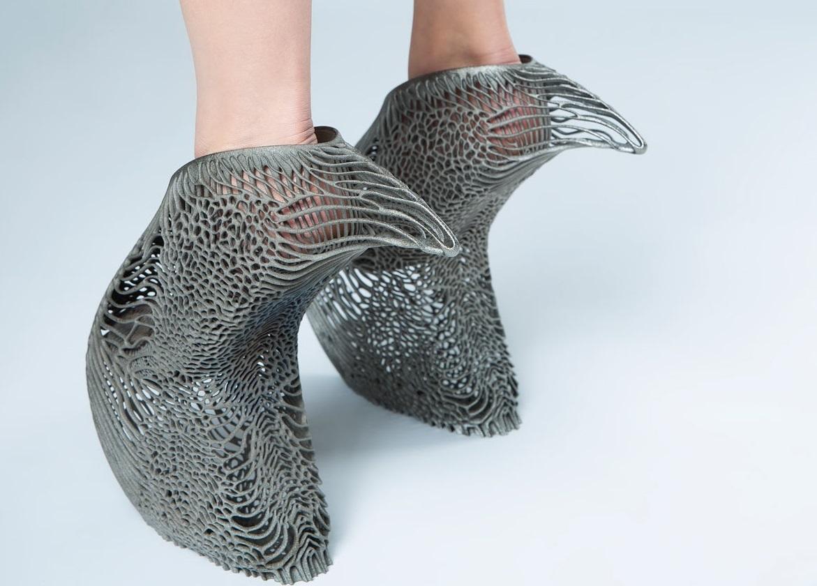 نمایی از کفش پرینت سه بعدی شدهقارچی