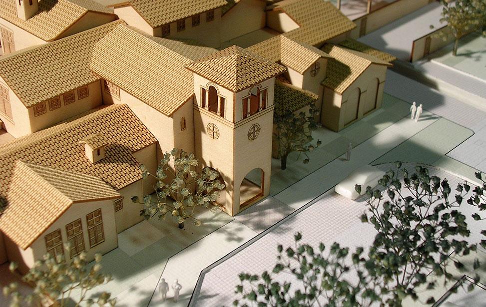 مدل ساختمان حاصل از برش لیزر