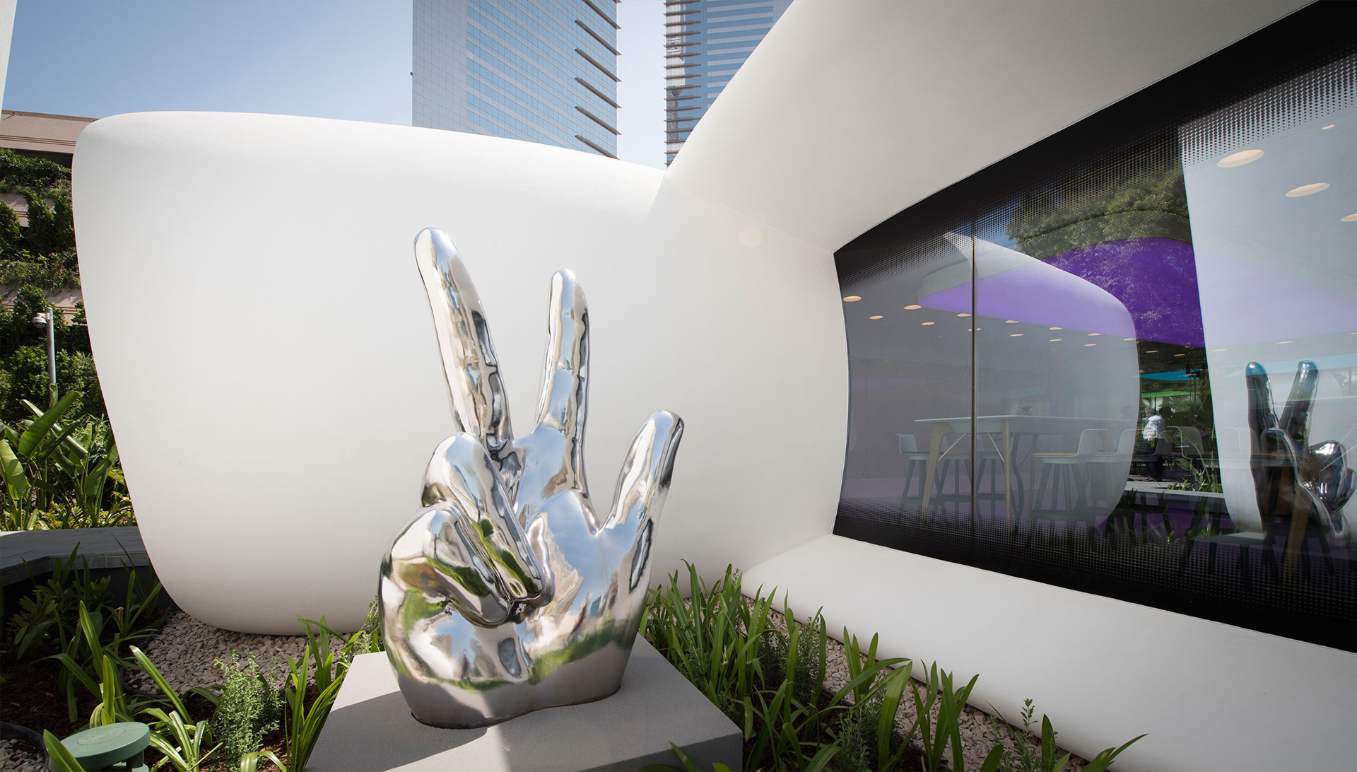 نمایی بیرونی از اولین ساختمان اداریپرینت سه بعدی شده