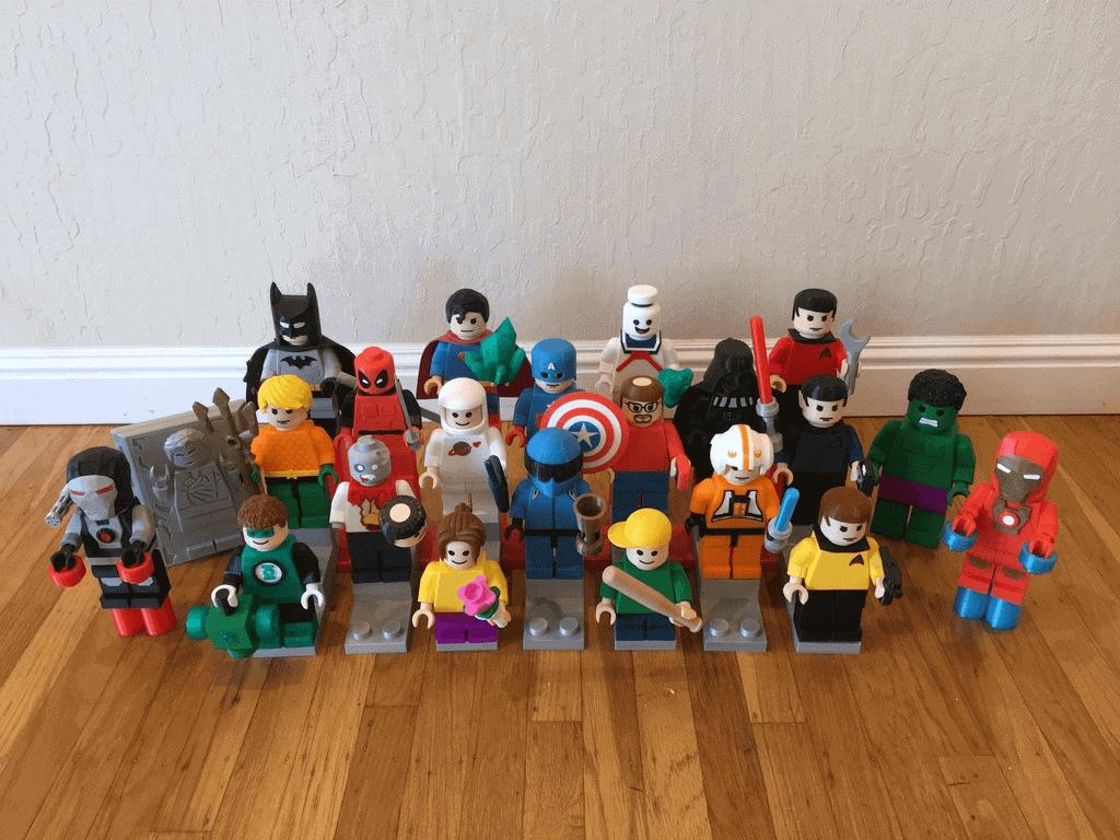 مجموعه غول پیکر لگو پرینت سه بعدی شده Superhero
