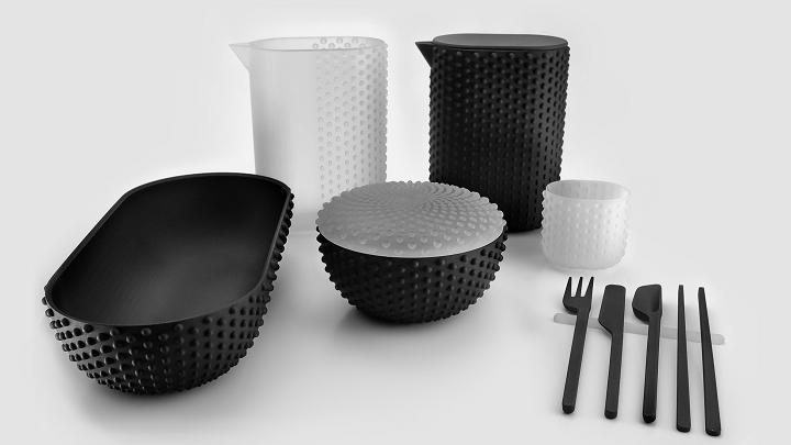 پرینت سه بعدی ظرف و سرپوش پلاستیکی