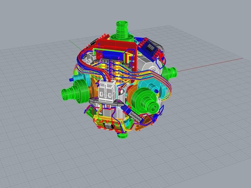 طراحی سه بعدی اجزای درونی مکعب روبیک پرینت سه بعدی شده