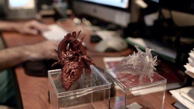 نمونه هایی از قلب های پرینت سه بعدی شده