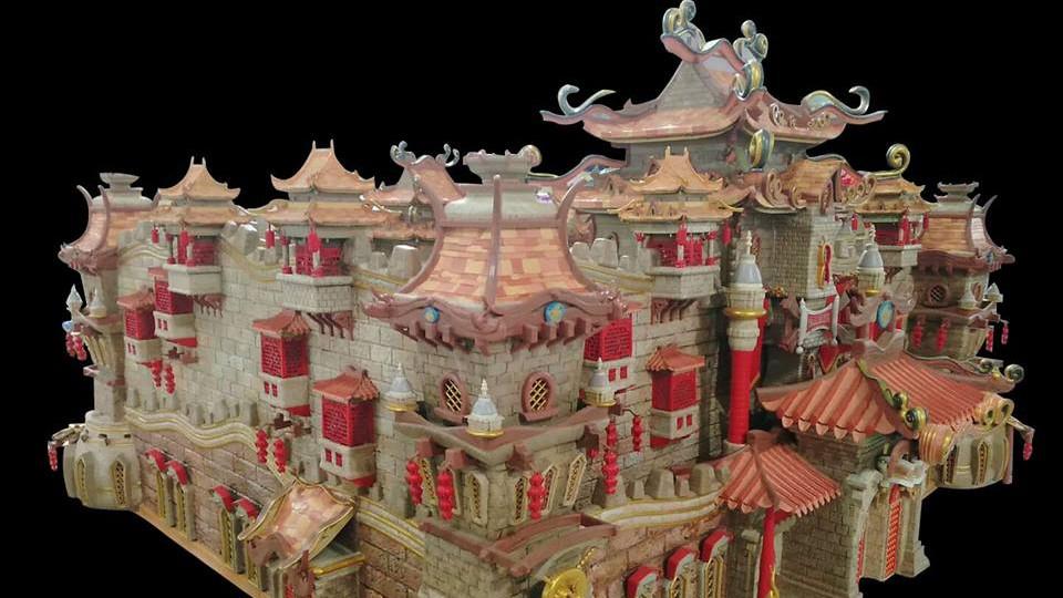 نمونه ای از قلعه افسانه ای تولید شده با پرینتر سه بعدی SLA