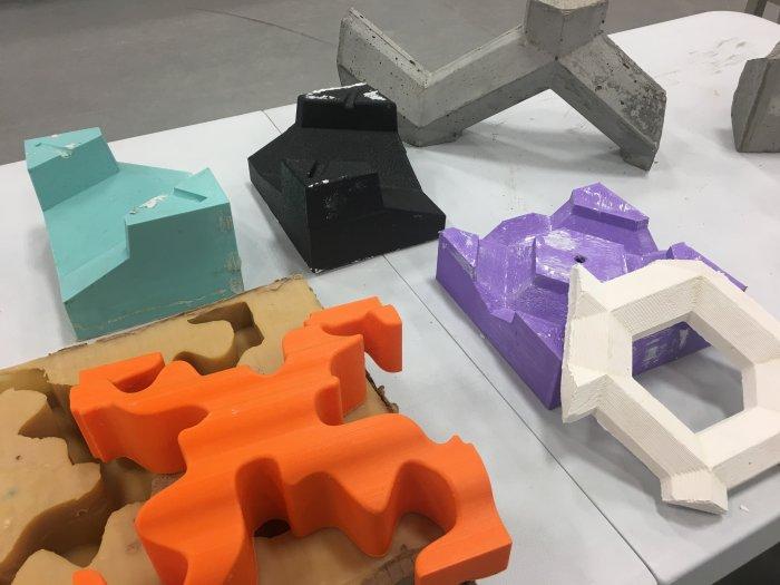 قالب های پرینت سه بعدی شده متفاوت