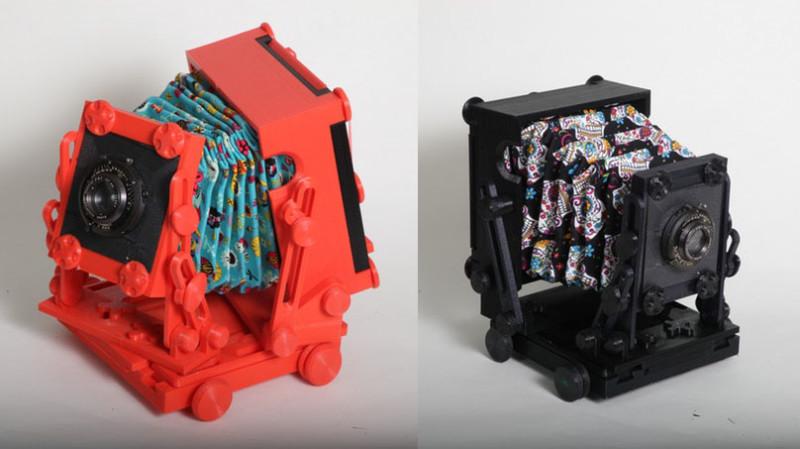 نمونه هایی حاصل از پرینت سه بعدی شده دوربین عکاسی رنگارنگ