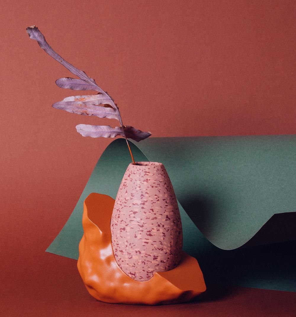 گلدان خال خالی پرینت سه بعدی شده