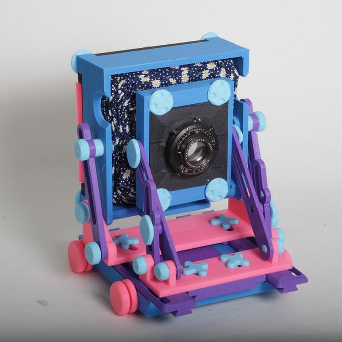 نمونه ای از دوربین عکاسی رنگارنگ پرینت سه بعدی شده