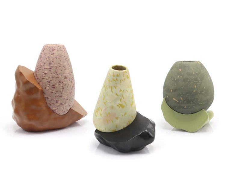 سه نوع گلدان پرینت سه بعدی شده