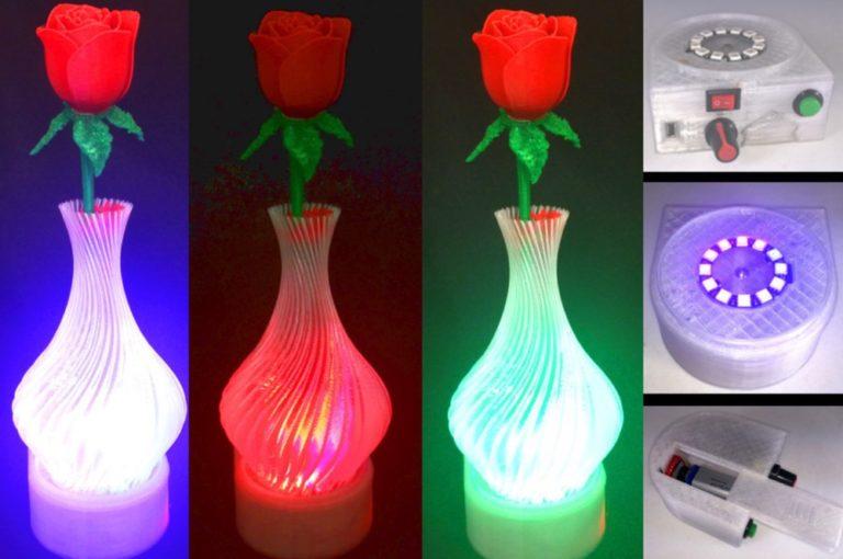 گلدانی با چراغهایLED