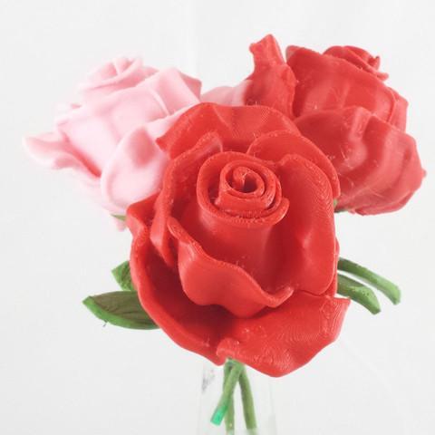 پرینت سه بعدی گلهای رز قرمز