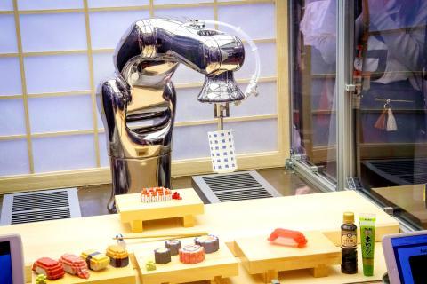 تولید سوشیهای پیکسلی از طریق بازوی رباتیک