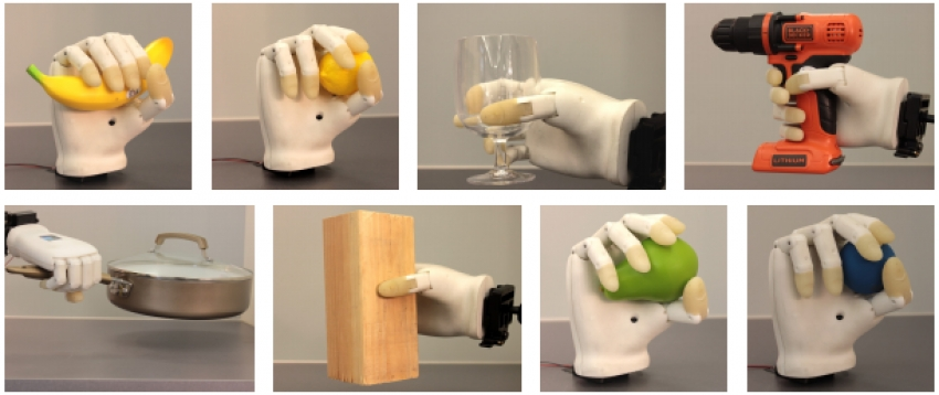 استفاده از دست مصنوعی پرینت شده برای گرفتن وسایل