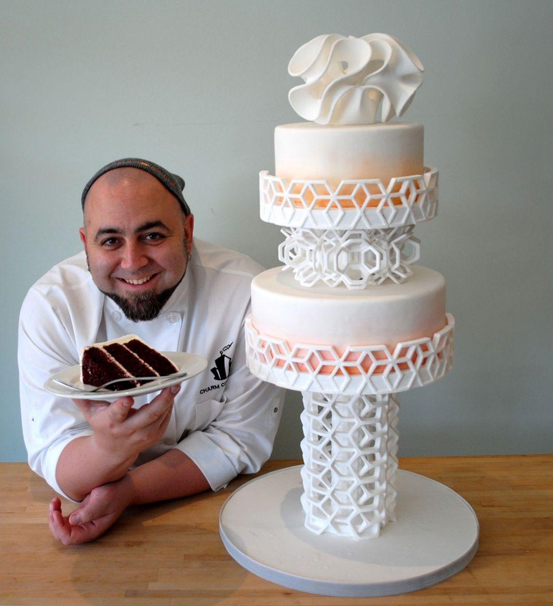 پرینت سه بعدی کیک