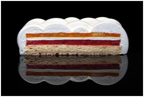کیک حاصل از پرینتر سه بعدی