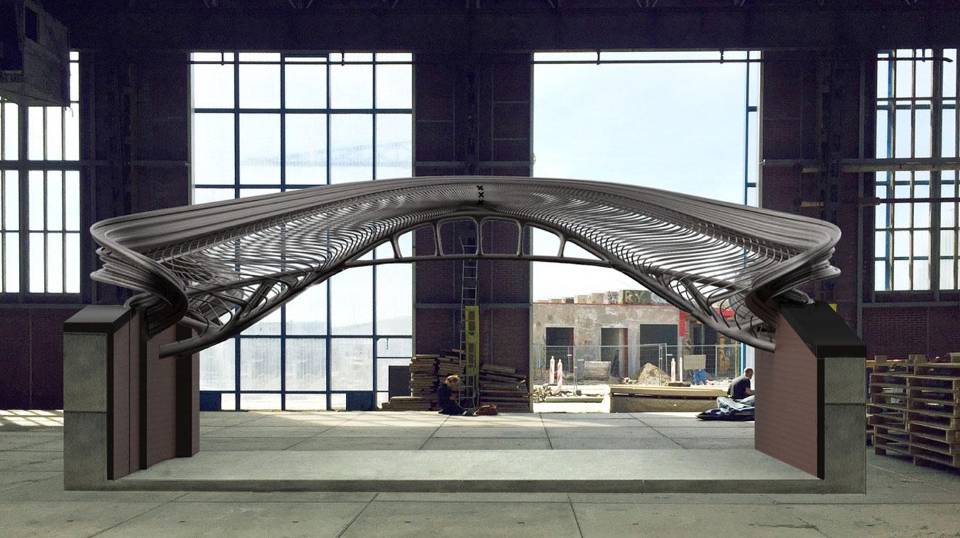 پرینت سه بعدی پل فولادی