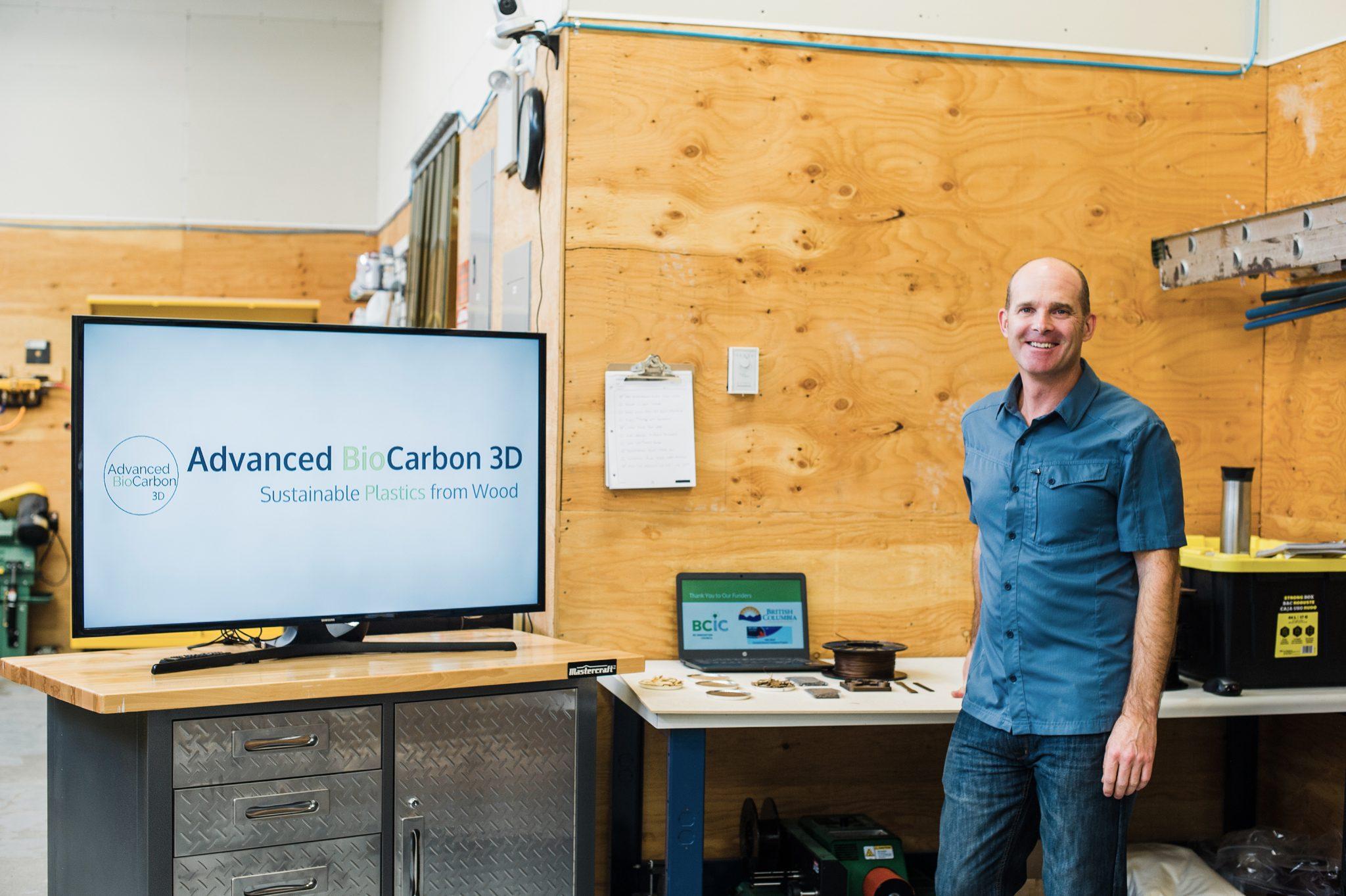Darrel Fry مدیر عامل شرکت ABC3D، در آزمایشگاه MIDAS Fab