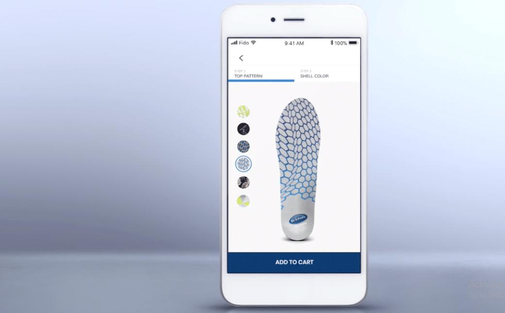 فرآیند سفارشدهی کفی کفش حاصل از پرینتر سه بعدی