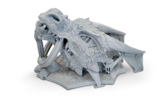 پرینتر سه بعدی و دستگیرهی در به شکل اژدها