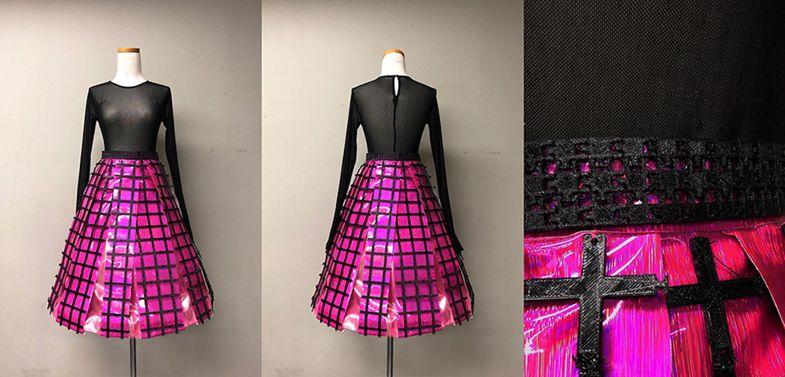 لباس حاصل از پرینت سه بعدی طرح اول