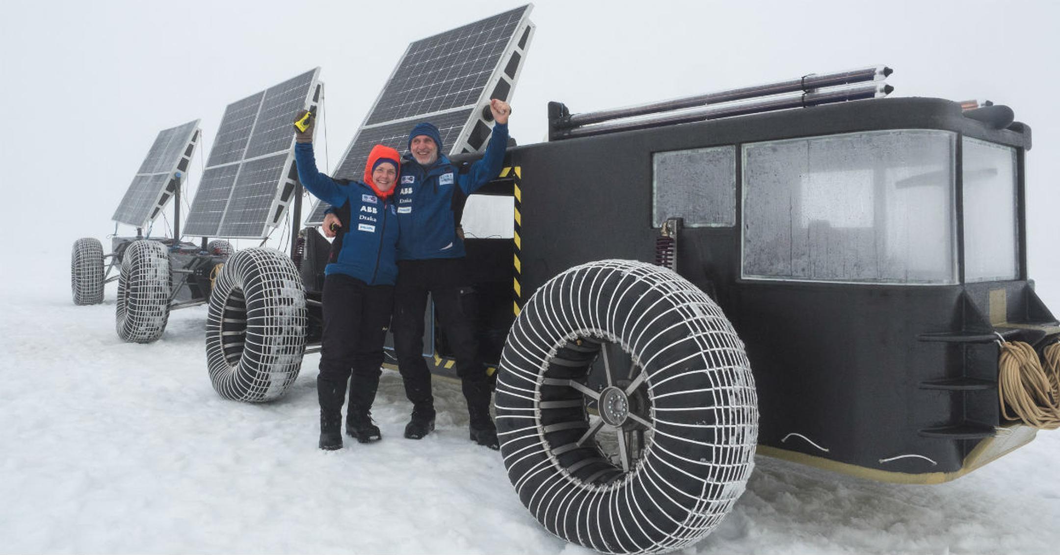 پرینتر سه بعدی و وسیلهی نقلیهی پلاستیکی با نیروی خورشیدی برای رفتن به قطب جنوب