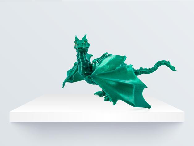 پرینتر سه بعدی و اژدهای اسباب بازی منعطف با قابلیت جدا شدن