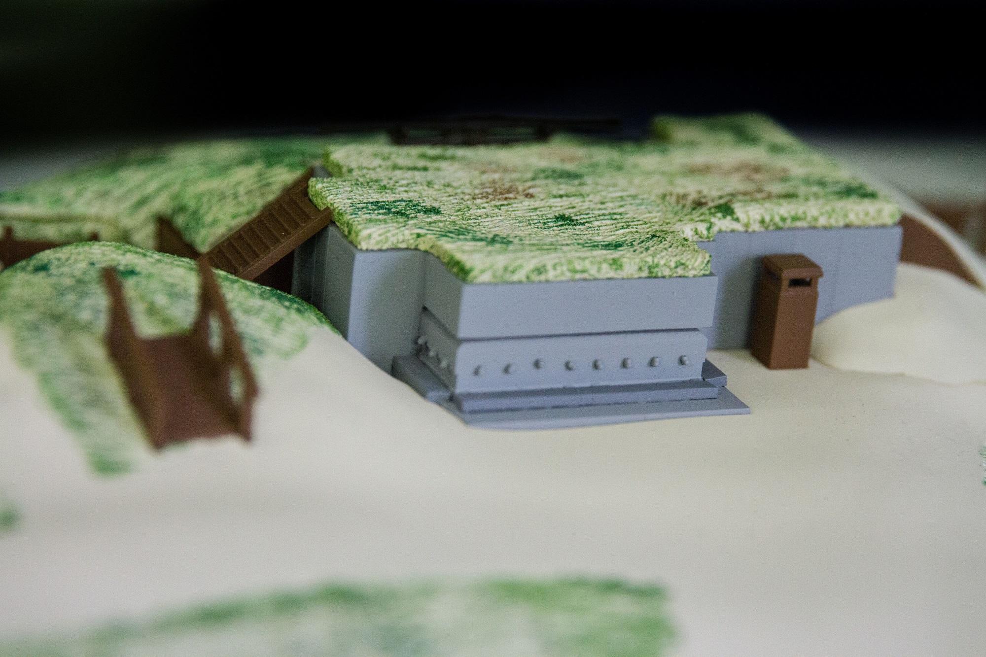 پرینتر سه بعدی و ماکت خط ساحلی بلژیک در جنگ جهانی اول