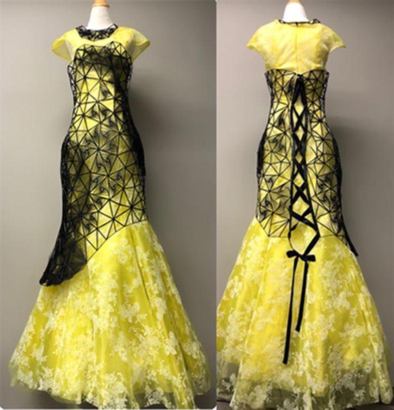 لباس حاصل از پرینتر سه بعدی طرح دوم