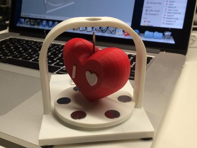 پرینت سه بعدی قلب خورشیدی