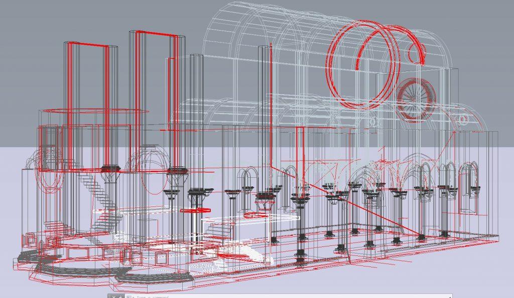 طراحی سه بعدی کاخ دیوکلسیان در شهر سیببیون